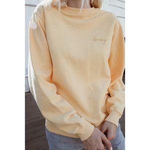 Brandy Melville Erica honey sweatshirt